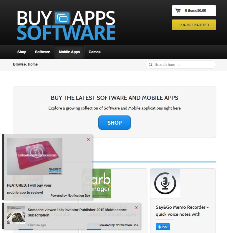 Buy Software Apps Website