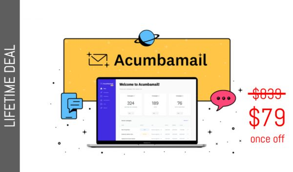 Buy Software Apps Acumbamail Lifetime Deal header