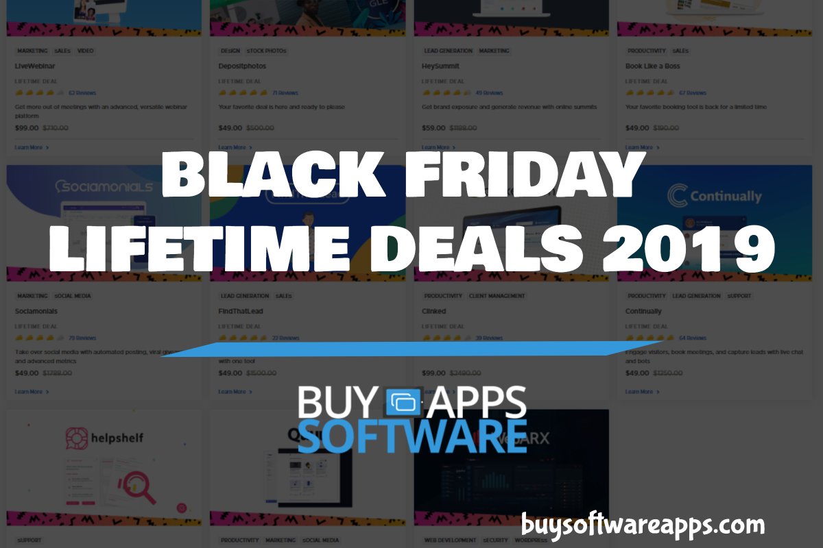 Buy Software Apps - Black Friday Lifetime Deals 2019