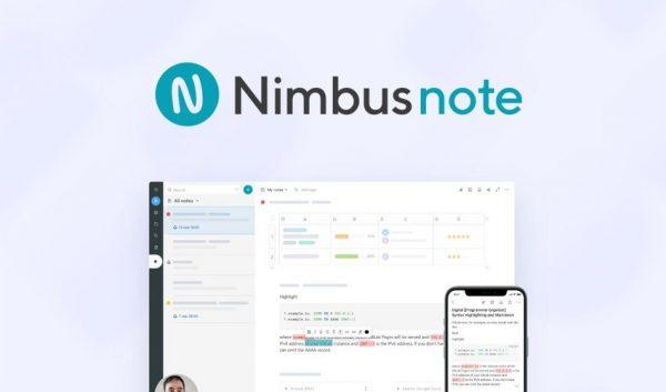 Buy Software Apps Nimbus Note Lifetime Deal header