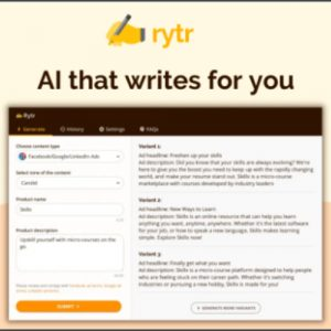 Buy Software Apps Rytr Lifetime Deal header image