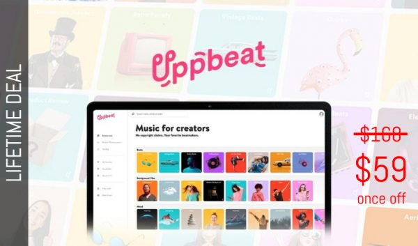 Buy Software Apps Uppbeat Lifetime Deal header