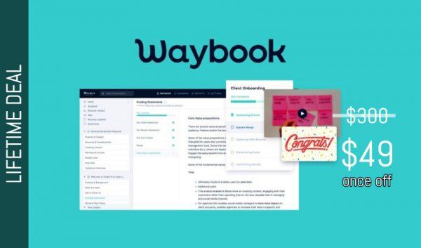 Buy Software Apps Waybook Lifetime Deal header