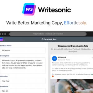 Buy Software Apps Writesonic Lifetime Deal header