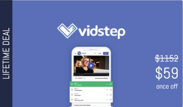 Buy Software Apps vidstep Lifetime Deal header image